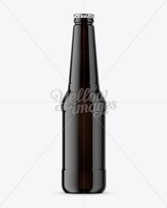 Dark Glass Beer Bottle Mockup