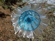 Repurposed Upcycled Glass Flower Suncatcher Anglena