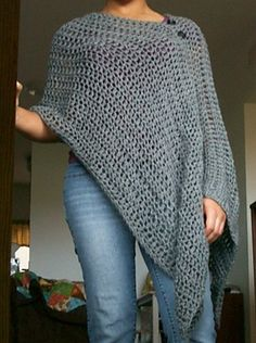 [Free Pattern] Totally Customizable And Very Versatile, This Poncho Pattern Is Brilliant - http://www.dailycrochet.com/free-pattern-totally-customizable-and-very-versatile-this-poncho-pattern-is-brilliant/