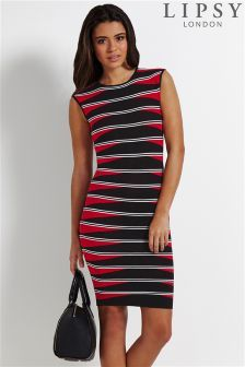 Lipsy Cap Sleeve Bodycon Dress - simple patterns always look good and good for adding colour Striped Knit, Striped Dress, Work Dresses For Women, Smart Dress, Bodycon Dress With Sleeves, Lipsy, Knit Dress, Cap Sleeves, Work Wear