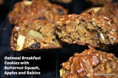 Oatmeal Breakfast Cookies with Butternut Squash, Apples and Raisins