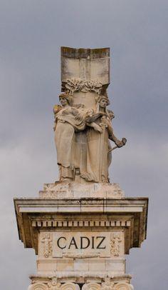 Monumento en Cadiz  - ANDALUCIA Iberian Peninsula, Andalusia, Malaga, Granada, Spanish, Statue, City, Travel, Gastronomia
