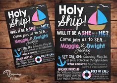 Nautical Theme  Holy Ship Gender Reveal by ReigningParties on Etsy, $20.00 @Mallorie Hannon