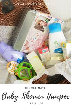 The Ultimate Baby Shower Hamper Gift Guide Baby Shower Hamper, Baby Shower Duck, Boy Baby Shower Themes, Baby Shower Cakes, Baby Shower Gifts, Baby Gifts, Baby Showers, Baby Schedule, Gift Hampers