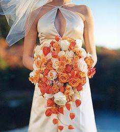 Casamiento naranja II: Ramo   ...Cabeza de novia