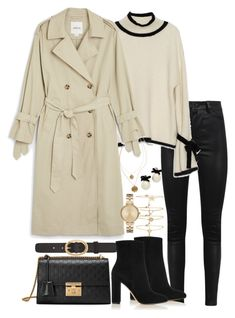 """""""Untitled #5347"""" by theeuropeancloset on Polyvore featuring Manokhi, Monki, Forever 21, Michael Kors, Kenneth Cole, A.P.C., Kate Spade, Gianvito Rossi and Gucci"""