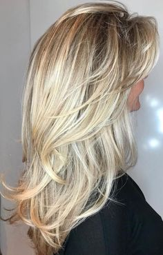 50 Cute and Effortless Long Layered Haircuts with Bangs - Hair - Hair Layered Haircuts With Bangs, Haircut For Thick Hair, Haircuts For Long Hair, Long Layered Bangs, Long Hairstyles With Layers, Blonde Layered Hair, Blonde Hair With Layers, Medium Layered Hairstyles, Hair Layers