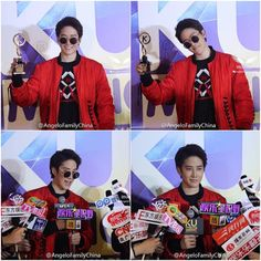 """""""Mike D. Angelo give interviews after performed on stage in 2016 KU Music Asian Awards. Cr: AngeloFamilyChina Weibo @m1keangelo #m1keangelo #29Mar16…"""""""