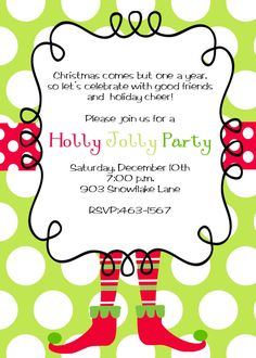christmas party invitation - Funny Christmas Party Invitations