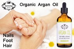 Organic Argan Oil for Hair, Face, Skin & Nails Pure Argan Oil, Organic Argan Oil, Argan Oil Nails, Brittle Hair, Face Treatment, Silky Hair, Face Skin, Foot Reflexology, Pure Products