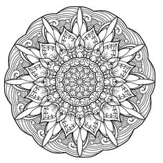 Facets mandala to print and color available in jpg and