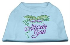 Mirage cat Products Mardi Gras Rhinestud Shirt, X-Large, Baby Blue >>> Trust me, this is great! Click the image. : Cat Apparel