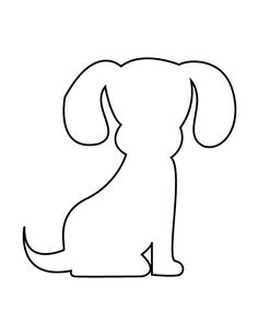 puppy stencil coloring pages printable and coloring book to print for free. Find more coloring pages online for kids and adults of puppy stencil coloring pages to print. Animal Templates, Applique Templates, Applique Patterns, Craft Patterns, Quilt Patterns, Sewing Patterns, Dog Stencil, Stencils, Dog Quilts