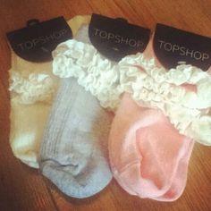 Topshop frilly socks! Xx