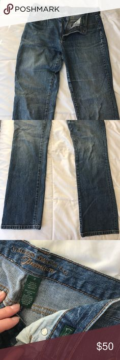 Ralph Lauren classic straight jeans Medium blue wash high quality jeans, runs kind of small, can fit like a mom jean or skinny/straight jean, EXCEPTING MANY OFFERS Lauren Ralph Lauren Jeans Straight Leg
