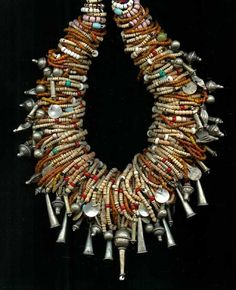 by Carl Dreibelbis | A wonderful necklace that has been put together by Carl using a collection of rare old beads, antique trade and old and vintage silver beads {he has been an avid collector since the 1970}
