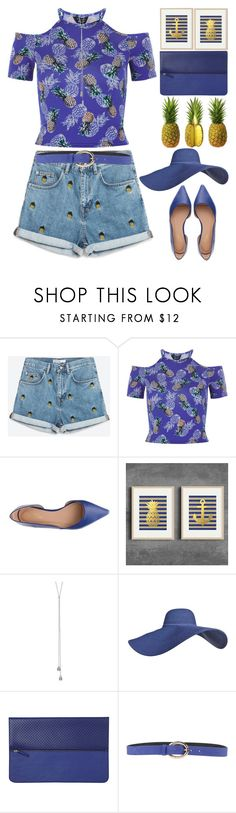 """Pineapple"" by grozdana-v ❤ liked on Polyvore featuring New Look, Journee Collection, Minor History and Orciani"