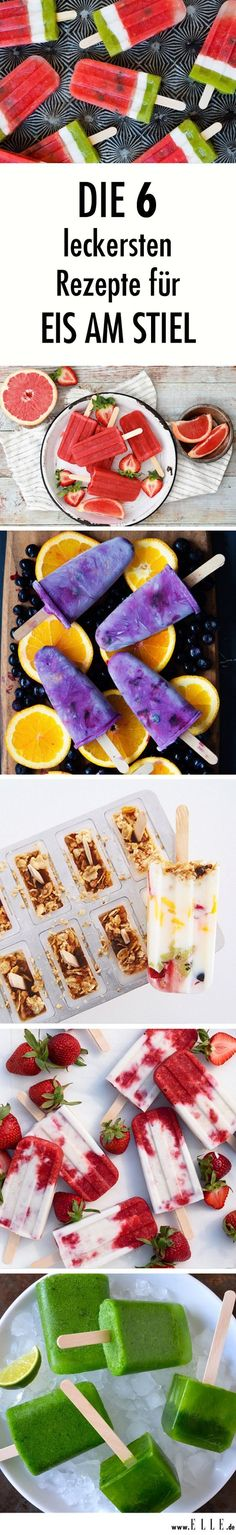 Es ist der erfrischendste Trend des Jahres: selbstgemachtes Eis am Stiel. Wir v… It's the refreshing trend of the year: homemade popsicles. We reveal our six favorites and deliver the recipes at the same time. Homemade Lollipops, Homemade Popsicles, Thanksgiving Crafts For Kids, Kids Crafts, Kids Diy, Summer Dessert Recipes, Frozen Yoghurt, Festa Party, Ice Ice Baby