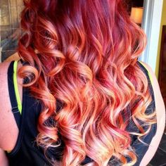 fire red curls