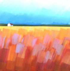 Highland Cottage 2 by Jan Rippingham. Landscape Painting