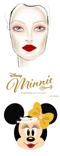 Minnie's 1930s Glamour.  Flaunt a classic beauty look with this timeless tutorial. 1. Sweep Miss Minnie over your entire eyelid and under your lower lash line. 2. Blend edges out for a soft smoky effect. 3. Apply Girlish Appeal just at the upper and lower lash line to create a smoky liner effect. 4. Apply mascara. 5. Use SEPHORA COLLECTION Cream Lip Stain in Red to complete the look.
