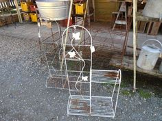 heaths old wares collectable industrial antiques, 12 station st bangalow nsw 2479 ph 66872222 vintage wire plant stands for sale Plant Stands, Broadway, Therapy, Industrial, Wire, Antiques, Phone, Garden, Furniture