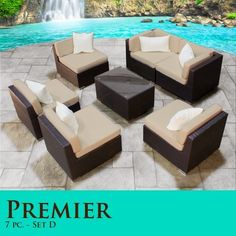Modular Furniture, Premier Outdoor, Outdoor Wicker, Patios Sofas