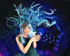 Blue Ursula URCHIN HUGE MERMAID Headpiece headdress High by bwilkerson74, $395.00