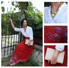 Anca Oniga Red-Long-Skirt