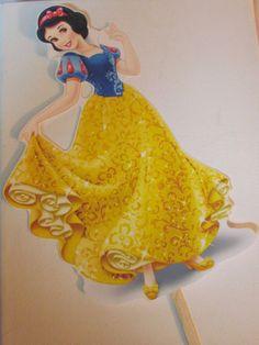 Set 3 Snow White Princess DIY Centerpiece by KhloesKustomKreation, $12.00