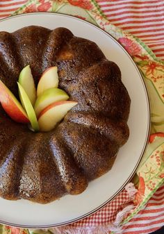This Chai Apple Cake recipe is a scrumptious dessert that celebrates the flavors of fall. The warm spices, tart apples and soft texture all come together beautifully in bundt pan. You can make it ahead and it's lovely for a crowd! Brunch Recipes, Fall Recipes, My Recipes, Sweet Recipes, Cooking Recipes, Apple Recipes, Apple Bundt Cake Recipes, Pound Cake Recipes, Brownie Recipes