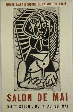 Original Plakate Picasso Original Poster Picasso Affiche original Picasso title XIII. Salon de Mai technology collotype