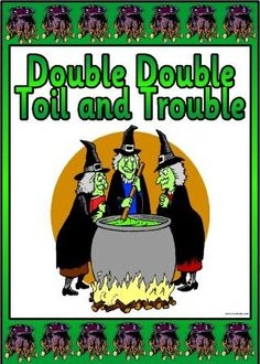 ... poem from Macbeth - Double, Double, Toil and Trouble printable poem