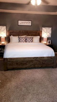 10 Simple and Crazy Ideas Can Change Your Life: Guest Bedroom Remodel bedroom remodel on a budget builder grade.Rustic Bedroom Remodel Joanna Gaines bedroom remodel on a budget how to decorate. Dream Bedroom, Home Bedroom, Bedroom Carpet, Modern Bedroom, Farm Bedroom, Apartment Master Bedroom, Bedroom Wall, Basement Master Bedroom, Bedroom Suites