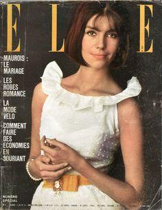 Couverture de Elle n°910 du 31 mai 1963 - Robe Cardin - photo Lionel Kazan