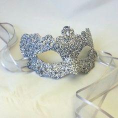 Silver Lady Filigree Shimmer Venetian Masquerade Masked Ball Prom Mask