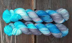 Antarctic Merino/nylon superwash high twist hand dyed