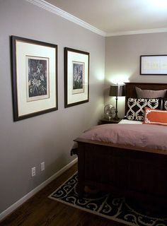 mindful gray by sherwin Williams - calming and elegant paint color for bedroom