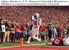 10-15-2016 GAME #6 THE VS. WISCONSIN J.T. BARRETT BECOMES ALL-TIME TOUCHDOWN LEADER.