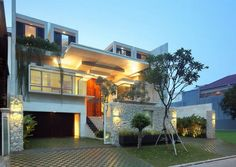Static House was designed by Jakarta-based studio TWS & Partners and is a diverse7,530 square foot contemporary home in Jakarta, Indonesia.