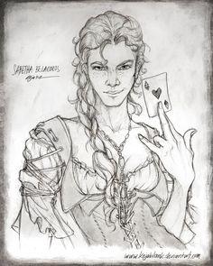 Sabetha Belacoros - Sketch by kejablank.deviantart.com on @Deviantart