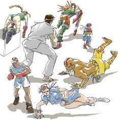 Street Fighter sketches by Eric Pineda.