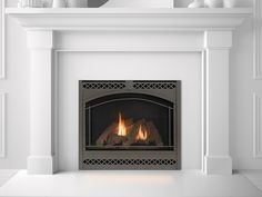 Heat & Glo 6000C Gas Fireplace with Arcadia Front in Black finish ...