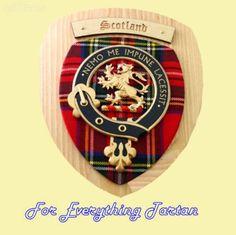 Scotland Tartan Woodcarver Wooden Wall Plaque Scotland Crest 7 x 8