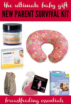Breastfeeding essentials from weeSpring's guide to practical gift giving: survival kits for almost every new-baby-need. | www.weeSpring.com