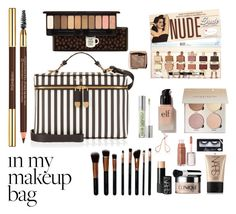 """""""In My Makeup Bag"""" by sm-aeyot ❤ liked on Polyvore featuring beauty, Henri Bendel, M.O.T.D Cosmetics, Urban Decay, Yves Saint Laurent, Etude House, e.l.f., NARS Cosmetics, Clinique and Hourglass Cosmetics"""