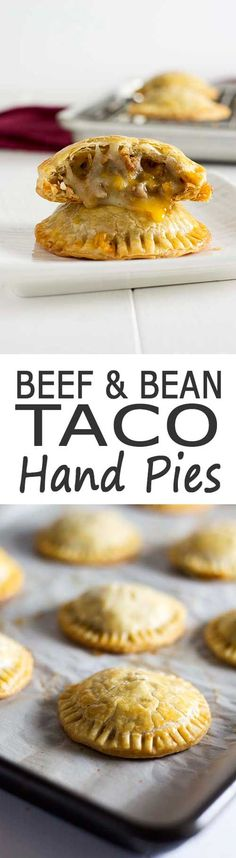 Cheesy beef and bean taco hand pies. Great party appetizer or alternative to Tac… Cheesy beef and bean taco hand pies. Great party appetizer or alternative to Taco Tuesday! Hand Pies, Mexican Dishes, Mexican Food Recipes, Mexican Food Appetizers, Mexican Cookbook, Beef Appetizers, Heavy Appetizers, Tex Mex, Appetizers For Party
