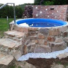 Above Ground Pool, In Ground Pools, Hot Tub Garden, Pool Garden, Big Garden, Garden Path, Diy Pool, Plunge Pool, Outdoor Living