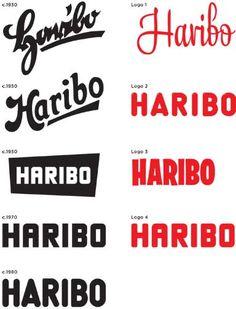 Haribo logo (evolution)