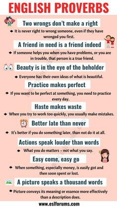 Top 30 English Proverbs and Their Meanings Everyone Should Learn! Learn English Grammar, English Writing Skills, English Idioms, English Language Learning, English Phrases, Learn English Words, English Lessons, Esl Lessons, French Lessons